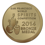 2014 San Francisco World Spirits Competition Bronze Medal