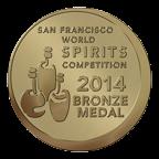 2014 San Francisco World Spirits Competition Bronze Medal
