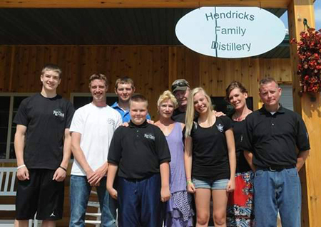 Hendricks Family Distillery bottles vodka